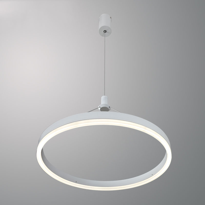 Modern Slim Circle Ring LED Pendant Light Aluminum Acrylic Circular Hanging Lamp For Living Room Bedroom Dining Room Kitchen modern led pendant lights remote circle ring pendant lamp abajour luminaria luster for dining living room bedroom kitchen salon