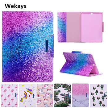 Wekays Case for Samsung Galaxy Tab S2 9.7 inch SM-T810 T815 Cute Cartoon Flamingo Unicorn PU Flip Leather Cover Case Fundas Capa detachable wireless bluetooth 3 0 keyboard with touchpad pu leather case cover stand for samsung galaxy tab s2 9 7 sm t810 t815