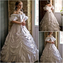 Customer-made Vintage Costumes Victorian Dresses 1860s Civil War Southern Belle Gown Ball  Marie Antoinette dresses US4-36 C-493