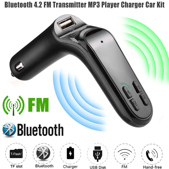 Car MP3 Player With Built-in intelligent FM Transmitter, Bluetooth and USB Port