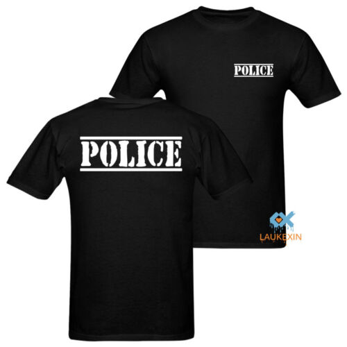 2019 Funny Security Staff Police T Shirt Men'S Usa Size Staff Guard Casuals Cotton T-Shirts Double Side Unisex Tee