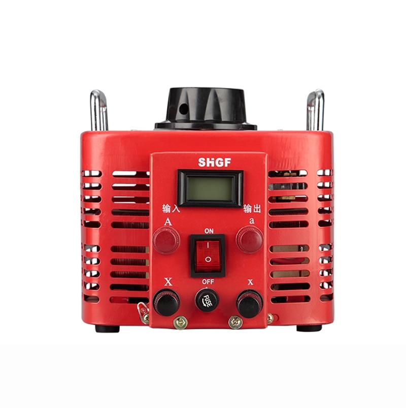Single phase 220V 3KW AC Voltage regulator Contact type Manual voltage regulation power supply 0V 250V Adjustable Y