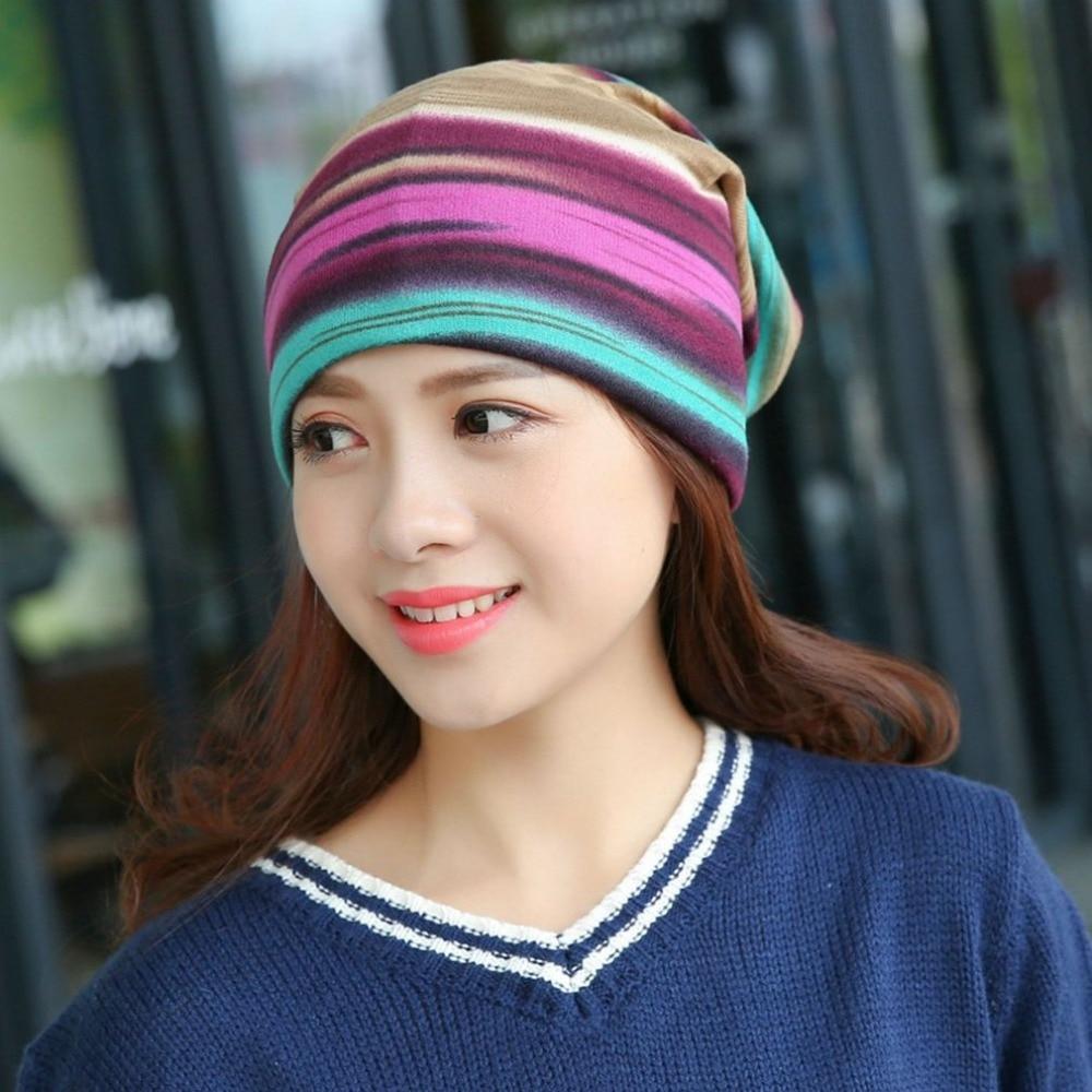 51f9da2ad7e0c4 Winter Turban Hat Women Winter Beanie Dual Purpose Hat/Scarf Thick Warm  Stocking Hat Female Bonnet Female Warm Wool Cap Winter-in Skullies & Beanies  from ...