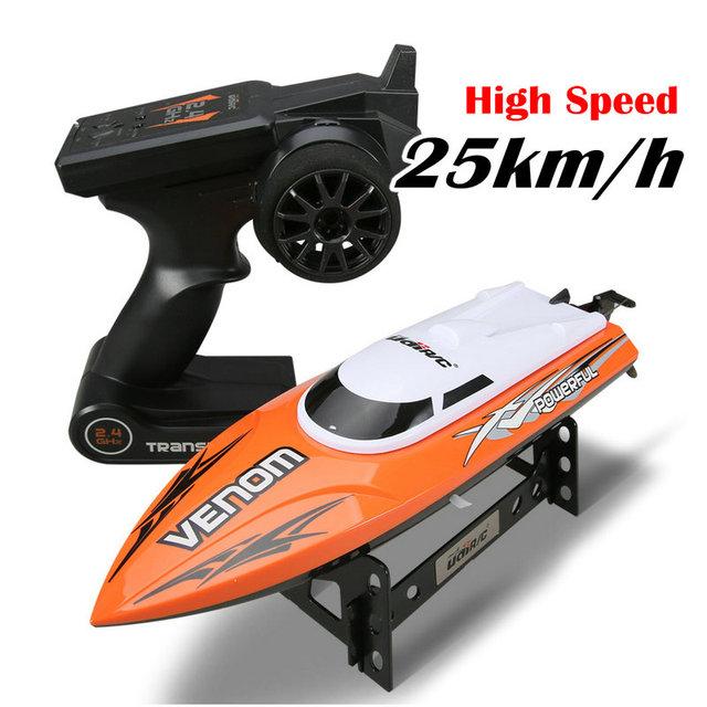 Hélice libre 2.4G RC Barco UDI udi001 barco velocidades Infinitamente variables de alta velocidad del barco 32 CM 25 km/h mejor Regalo