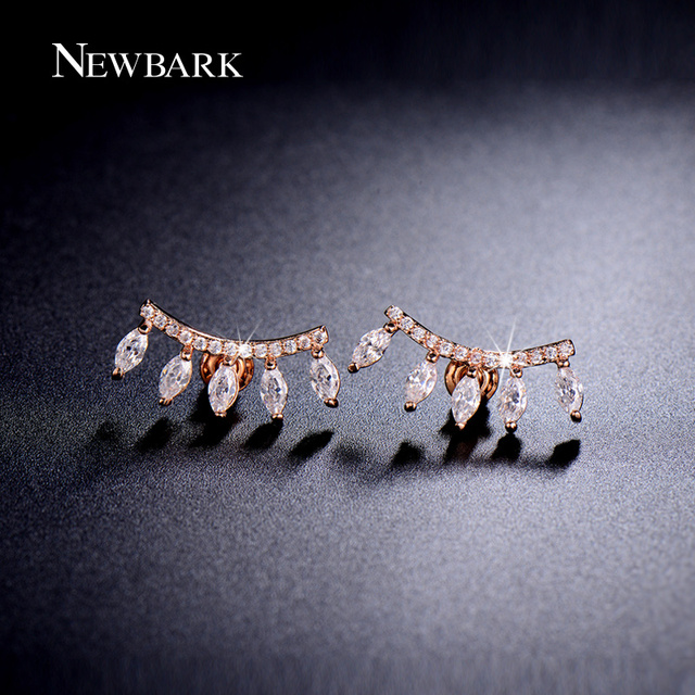 NEWBARK Brand Exclusive Stud Earrings 5pcs Marquise Cubic Zirconia Crown Shape Small Luxury Earring For Women Party Jewelry