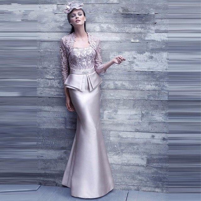 2016 Vestido de новые madrinha русалка мать невесты платье с длинным кружевными 3/4 рукав женщины формальные наряд для ну вечеринку