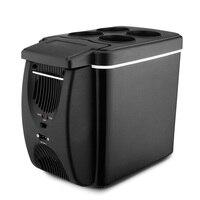 Fimei 6L maison voiture réfrigérateur refroidisseur plus chaud voyage voiture réfrigérateur à faible bruit électrique auto congélateur refroidissement boîte de chauffage réfrigérateur Réfrigérateurs    -