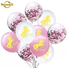 FENGRISE Unicorn Balloon Pink Latex Baloon Party Decoration Birthday Decor Kids Favors