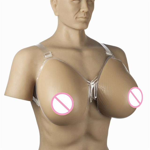 Man with fake tits