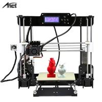 Anet Classic Model A8 3D Printer Acrylic Frame Aluminium Extruder Reprap Prusa i3 3D Printer DIY Kit with 2004LCD Filament Gift