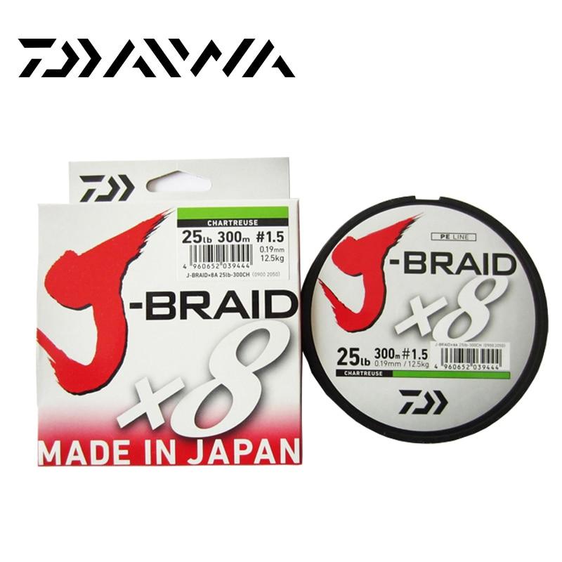 Daiwa J-BRAID 8A 150 M original grün/gras grün farbe 8 geflochtene angelschnur monofile angelschnur 10-60lb gemacht in japan