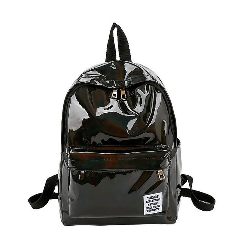 Women Hologram font b Laser b font PVC Travel Backpacks Teenage Girls Shoulder School Bags