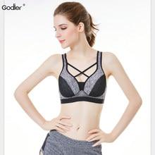 45fa8dd526 Godier Women Fitness Bra Push Up BH Cross-border Lady Back Bra Fitness Without  Ring Underwear Gather Plus Size Top Tank
