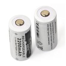 Новинка 2 шт 3,7 v 2200mAh CR123A литиевая аккумуляторная батарея 16340 батарея