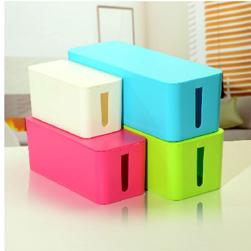 3 sizes blue Plastic Wire Storage Box Cable Manager Organizer Box ...