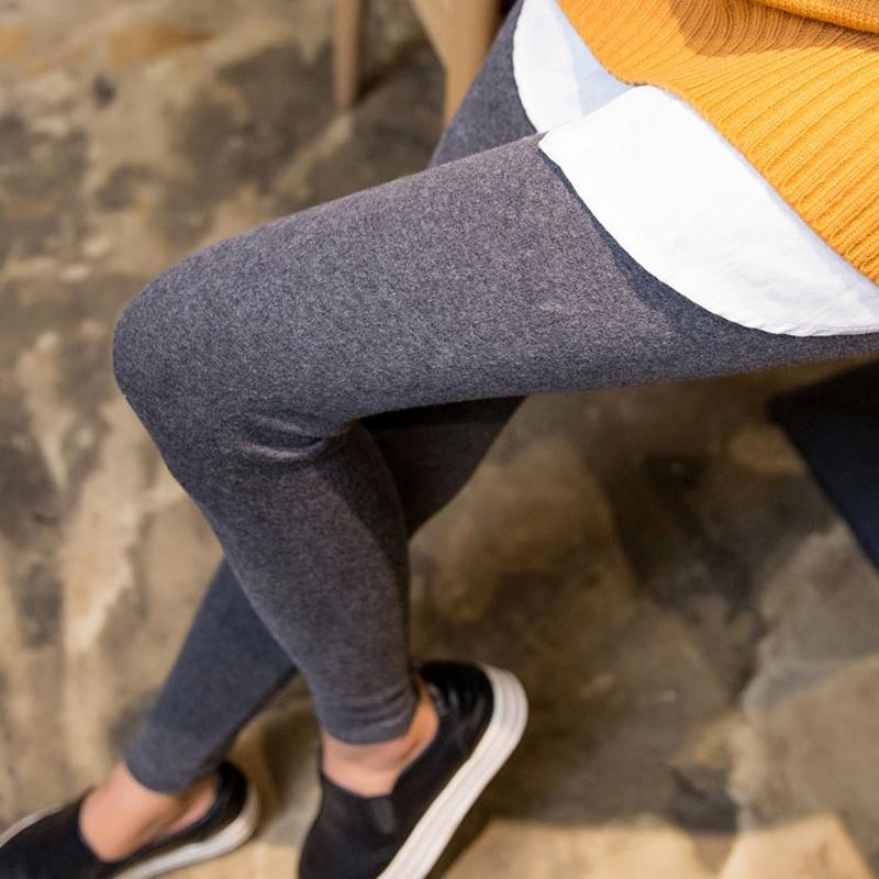 BIVIGAOS New Womens Casual Thicken Nine Pants Leggings Waist Leather Lable Elastic Cotton Leggings Pants Female Women Clothing 3
