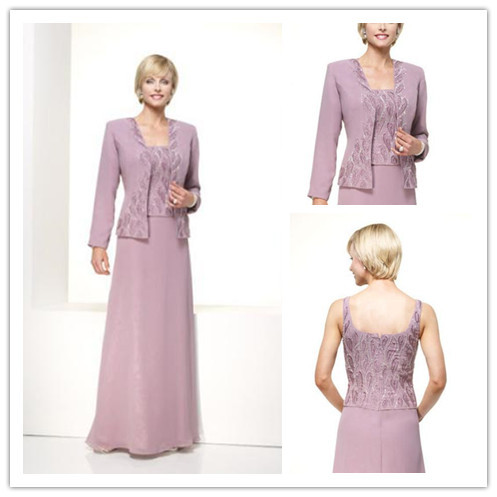 Elegant Chiffon Mother of the Groom Dresses with Jacket 2014 Long ...