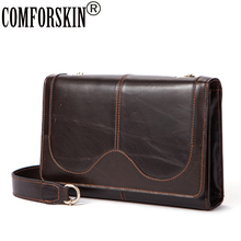 купить COMFORSKIN Bolsa Feminina New Arrivals Vintage Style Women Leather Bag 100% Genuine The First Layer Leather Messenger Bags 2018 онлайн