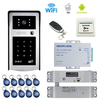 JERUAN New HD Wifi Video Door Phone Doorbell And Phone Telecontrol Talkback RFID Code Remote Control