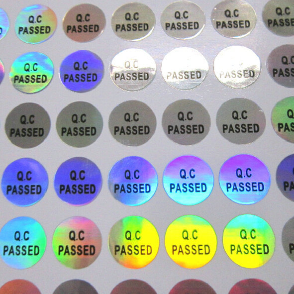 Self Adhesive Vinyl Labels size 15mm x 10mm each 100 Green Ovals Stickers