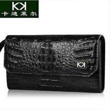 KADILER 2017 new hot free shipping men crocodile handbag business men bags large capacity bag leisure men wallet