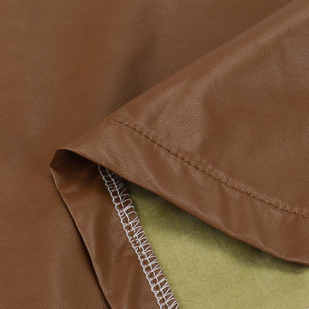 160cbea1c6e Free Ostrich Sexy Short Leather Skirt Women High Waist Wraps Hips ...