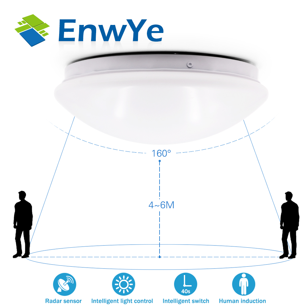 Radar Human induction LED Ceiling lamp light Downlight 8W 12W 5730SMD 220V corridor Stairs Garage balcony