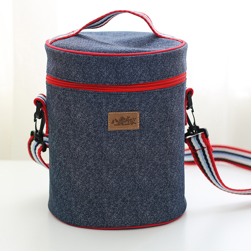 Round storage bag Thermal Insulated Lunch Container Cooler Bag Tote Bento Pouch Lunch Container box bag Excellent Quality