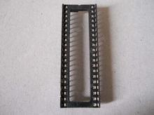 10 pces 40pin ic soquete 40 pinos dip 40 p 40 pinos ic soquetes adaptador tipo de solda