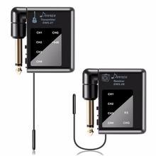 Donner DWS-2 Boleh Dicas semula Sistem Audio Tanpa Wayar Digital Guitar Electric Transmitter Bass dan Penerima