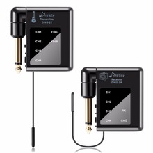 Donner DWS-2 충전식 디지털 오디오 무선 기타 시스템 일렉트릭 기타베이스 송신기 및 수신기