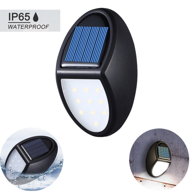 10 LED Solar Light Outdoor Waterproof IP65 Security Wall Lamp Energy Saving Sconce Street Yard Path Home Garden Emergency Lamp