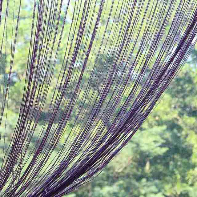 1 Pcs 200cm X 100cm String Curtains Patio Net Fringe For Door Window