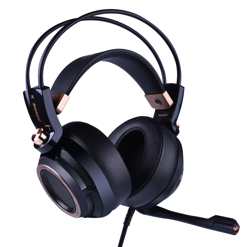 Image 2 - Somic Upgrade G941 Active Noise Cancelling 7.1 Virtual Surround Sound USB Gaming Headset with Mic Vibrating for PC Laptop-in Phone Earphones & Headphones from Consumer Electronics