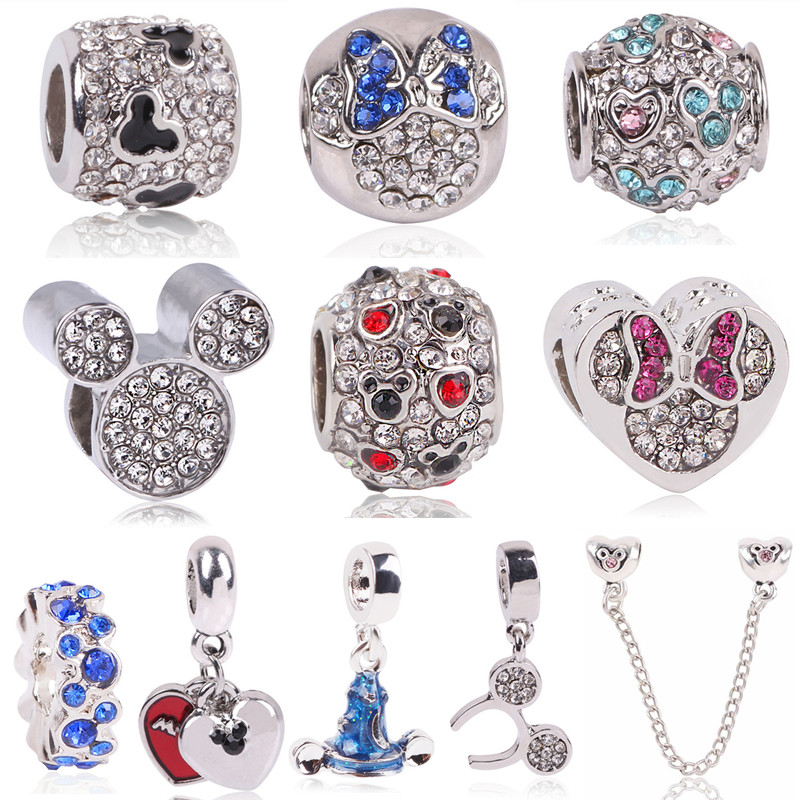 Beads & Jewelry Making Beads Spinner 16 Colors Rhinestone Charm Beads Fit Pandora Charm Bracelet For Women Authentic Diy Jewelry Gift Wholesale