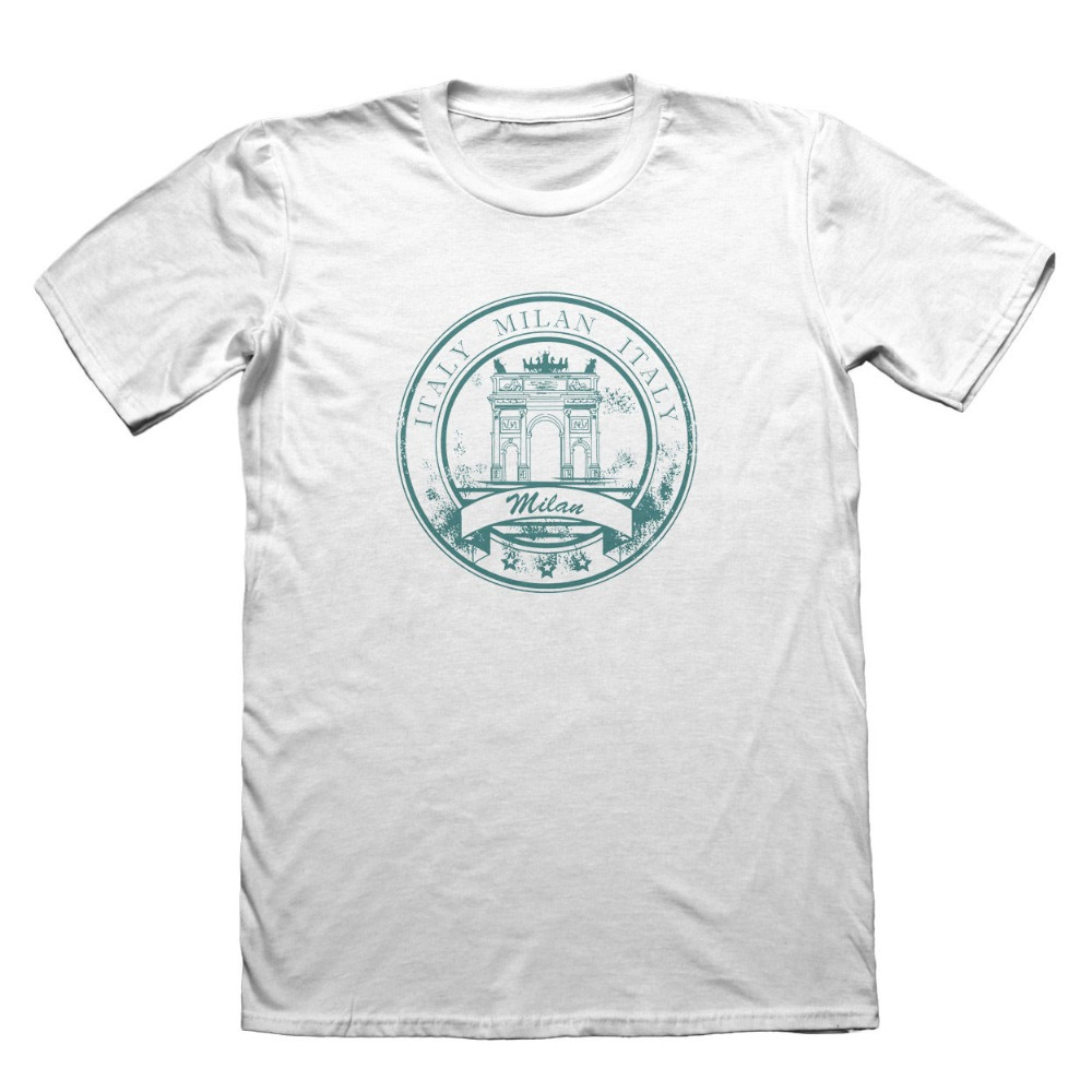 2018 Summer O-Neck Tee Shirt Milan Italy Design T-Shirt - Funny Mens Gift Hot Sale T-shirt