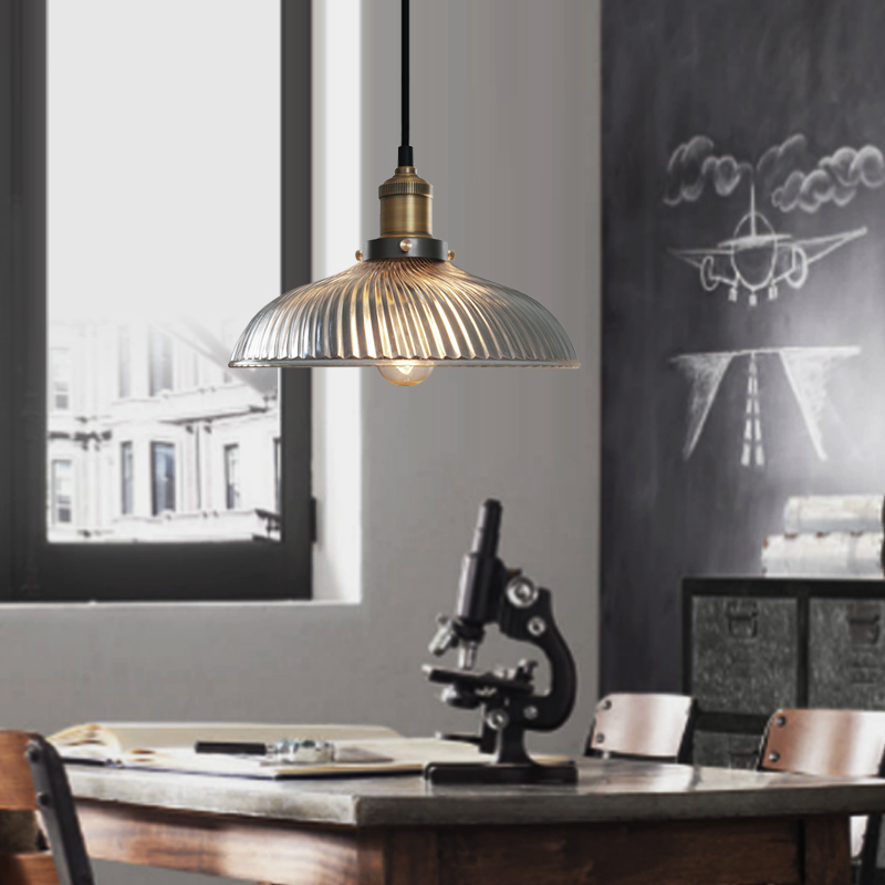ФОТО Lamp fashion brief loft single head glass brief modern pendant light
