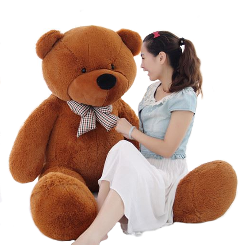 100 Giant Classic Teddy Bear Plush Toy Stuffed Ted Cheap Pirce Big Embrace Bear Doll Lovers/Girls Gifts Birthday gift 1pcs 16 40cm movie teddy bear ted plush toys in apron soft stuffed animals ted bear plush dolls birthday gift