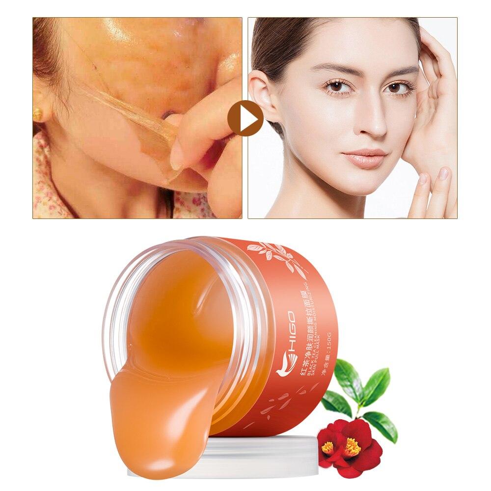 Ginseng rojo máscara cuidado de la piel Anti-arrugas blanqueamiento hidratante reafirmante cara cuidado de la salud de la piel Facial delicada y resbaladizo