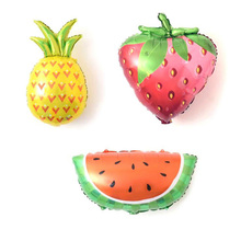AVEBIEN New Style Fruit Aluminum Balloon Pineapple Strawberry Watermelon Baptism Birthday Party Decoration Child 30inch