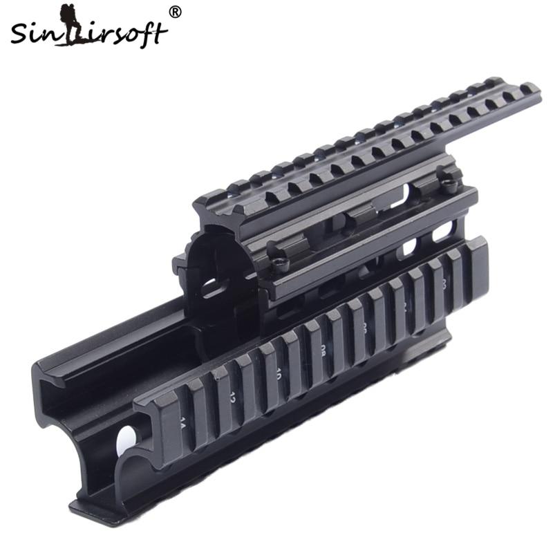AK 47 Universal Picatinny Weaver Quad Rail Systerm Receiver 20 mm - Gjuetia