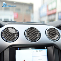 Airspeed Carbon Fiber Central Air Conditioner Outlet for Ford Mustang AC frame sticker 2015 2016 2017 Auto Accessories