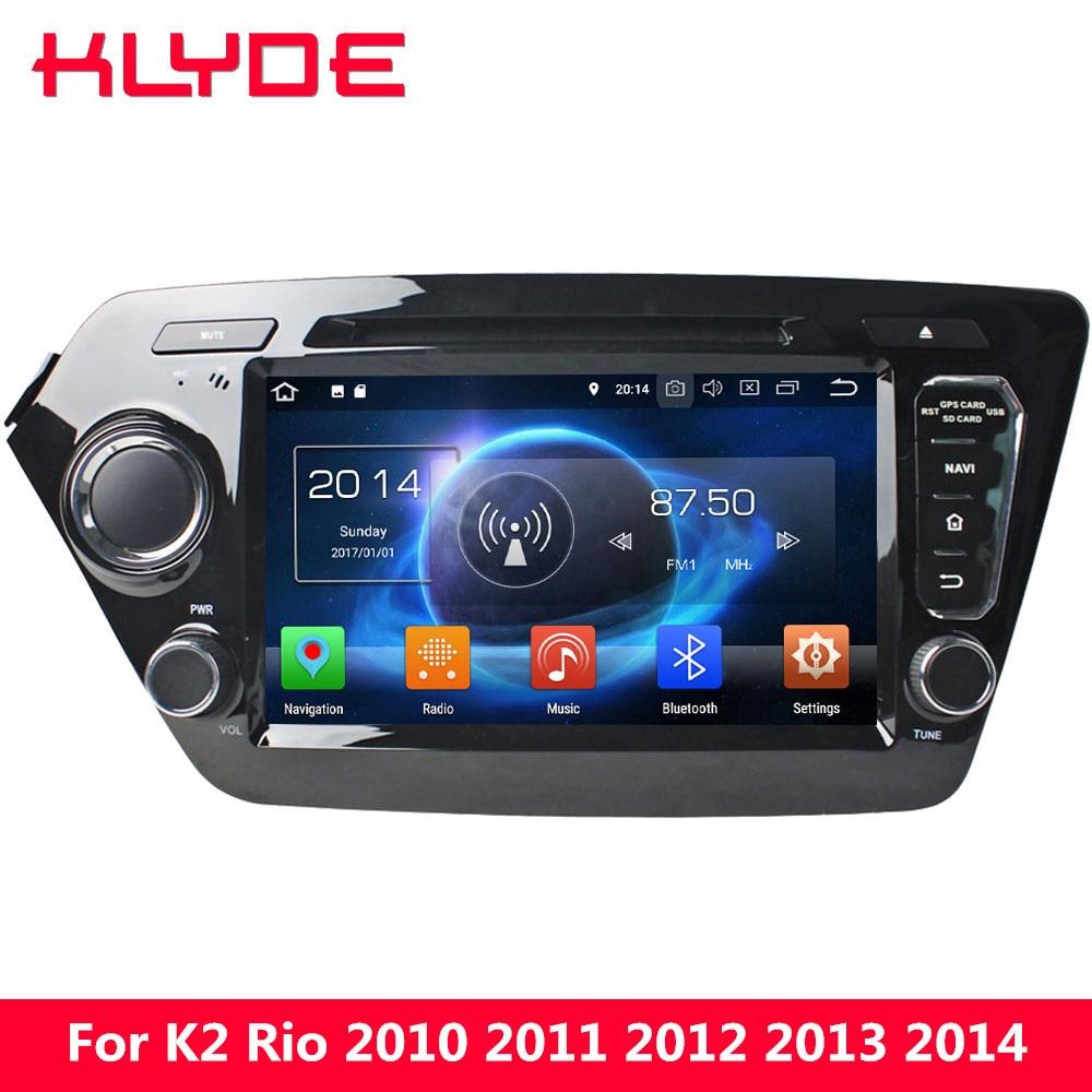 KLYDE 4G Android 8.0 Octa Core 4GB RAM 32GB ROM Car DVD Multimedia Player GPS Navigation For Kia K2 Rio 2010 2011 2012 2013 2014 цена