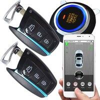 Автомобильные кнопку зажигания охранной сигнализации автомобиля мобильное приложение сигнализации напоминать Дистанционное включение в