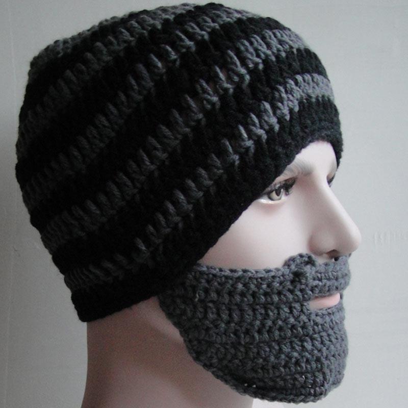 Warme Winter Frauen Männer Mode Punk Stricken Häkeln Bart Hut Beanie ...
