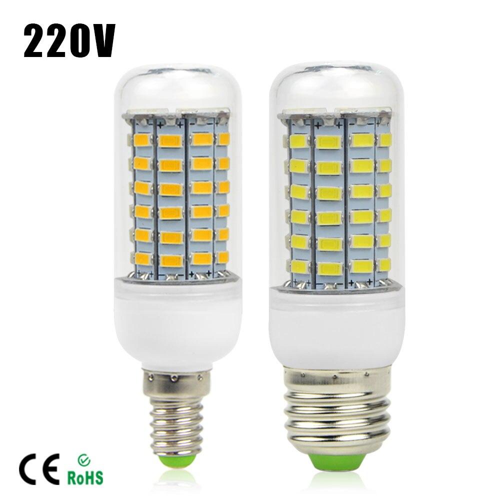 SMD5730 Lampada LED Corn Bulb E27 E14 High lumens Bombillas Light 24 72LEDs AC220V 240V LED