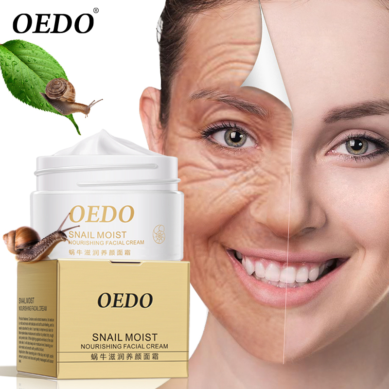 Snail Moist Nourishing Facial Cream Anti Wrinkle Cream Imported Raw Materials Skin Care Anti Aging Wrinkle Firming Snail Care