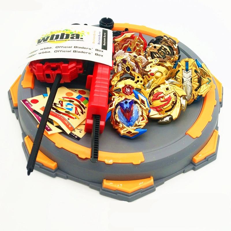 Beyblade explosão brinquedos com lançador de partida e arena brinquedo metal fusão deus girando topo bayblade lâmina lâminas brinquedos