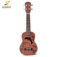 Professional 21 Inch Soprano Ukulele Uke Hawaii Guitar Sapele 15 Fret Wood Ukulele Musical Instruments For