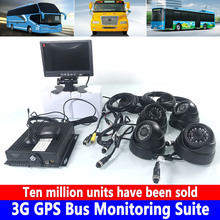 SD card recorder 3G GPS bus monitoring kit private car / small HD 4 channel AHD panoramic image docking OBD